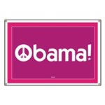 Pink Obama for Peace Banner