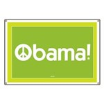 Green Obama for Peace Banner