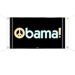 Black Obama for Peace Banner