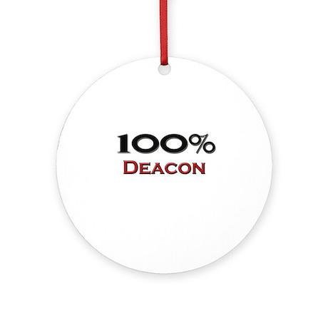 100 Percent Deacon Ornament (Round)