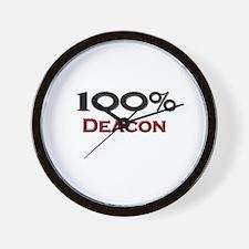 100 Percent Deacon Wall Clock