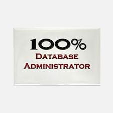 100 Percent Database Administrator Rectangle Magne