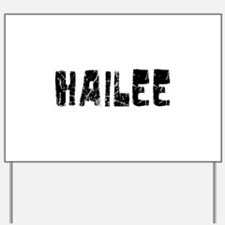 Hailee Faded (Black) Yard Sign