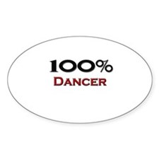 100 Percent Dancer Oval Decal
