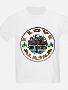 I Love Alaska Kids T-Shirt