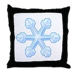 Flurry Snowflake IX Throw Pillow