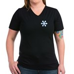 Flurry Snowflake IX Women's V-Neck Dark T-Shirt