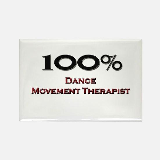 100 Percent Dance Movement Therapist Rectangle Mag