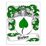 Sieber Family Crest Small Poster