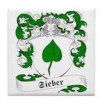 Sieber Family Crest Tile Coaster