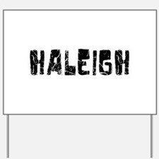 Haleigh Faded (Black) Yard Sign