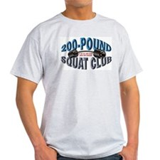 SQUAT 200 CLUB! Ash Grey T-Shirt