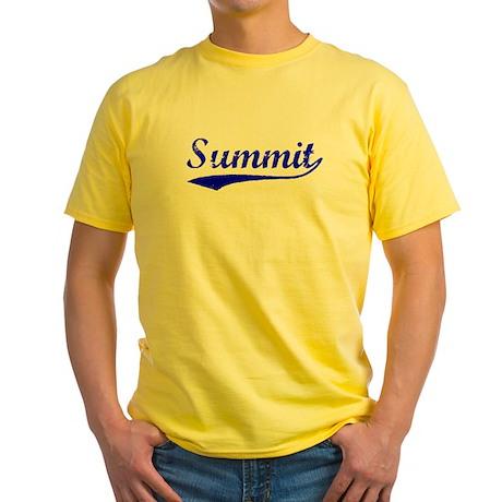 Vintage Summit (Blue) Yellow T-Shirt
