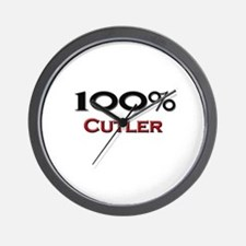 100 Percent Cutler Wall Clock