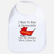 Ride A Snowmobile Like Grandpa Bib