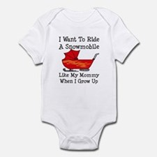 Ride A Snowmobile Like Mommy Infant Bodysuit