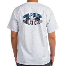 SQUAT 300 CLUB! Ash Grey T-Shirt