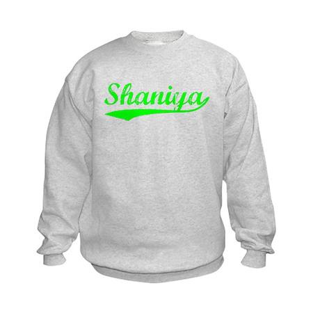 Vintage Shaniya (Green) Kids Sweatshirt