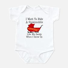 Ride A Snowmobile Like Daddy Infant Bodysuit