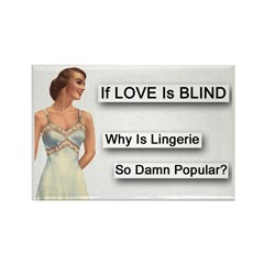 Love Is Blind Rectangle Magnet