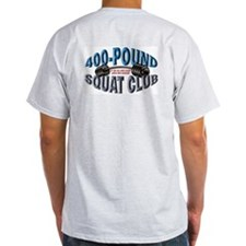 SQUAT 400 CLUB! Ash Grey T-Shirt