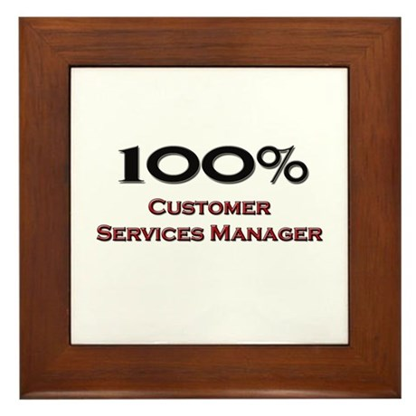 100 percent customer services manager framed tile by hotjobs