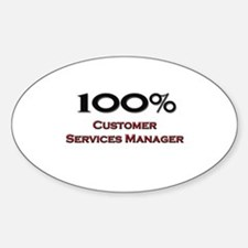 100 Percent Customer Services Manager Decal