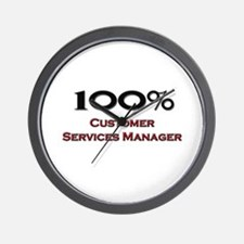 100 Percent Customer Services Manager Wall Clock