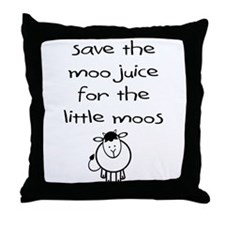 Funny Breastfed Throw Pillow
