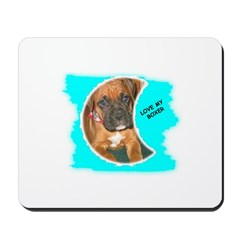 LOVE MY BOXER Mousepad