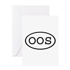 OOS Oval Greeting Card