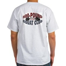 SQUAT 500 CLUB! Ash Grey T-Shirt