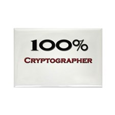 100 Percent Cryptographer Rectangle Magnet