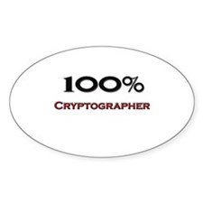100 Percent Cryptographer Oval Decal