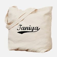 Vintage Taniya (Black) Tote Bag