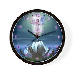 Lotus Fairy Wall Clock