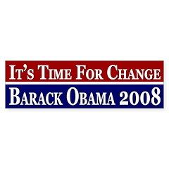 It's Time for Change Obama bumper sticker