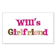 Will's Girlfriend Rectangle Decal