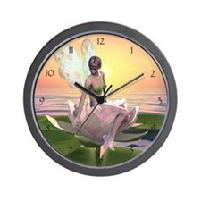 Waterlily Fairy Clock