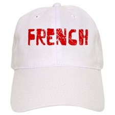 French Faded (Red) Baseball Cap