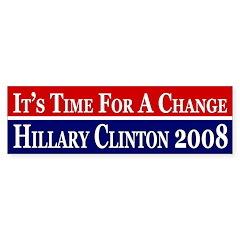 It's Time for a Change pro-Clinton bumper sticker