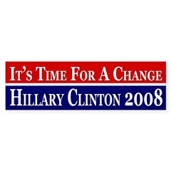 It's Time for a Change pro-Clinton bumper sticker