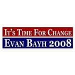 Time for Change Bayh bumper sticker