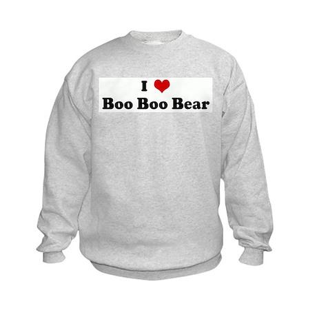 I Love Boo Boo Bear Kids Sweatshirt