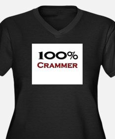 100 Percent Crammer Women's Plus Size V-Neck Dark