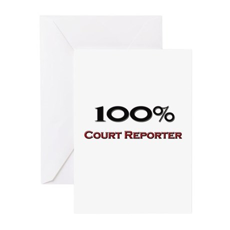 100 Percent Court Reporter Greeting Cards (Pk of 1