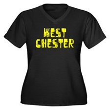 West Chester Faded (Gold) Women's Plus Size V-Neck