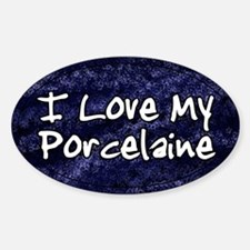 Funky Love Porcelaine Oval Decal