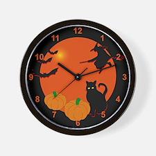 Harvest Moon Halloween Wall Clock