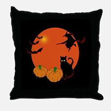 Harvest Moon Halloween Throw Pillow